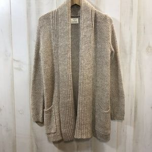 Anthropologie pins and needles Tan Long Sweater S